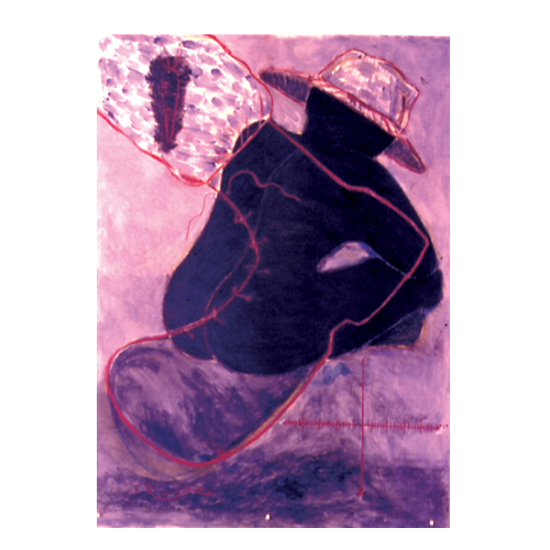 Tar Baby (2003) Pastels, wax, shells, wire, pin on Canvas paper (4 ft x 6ft)
